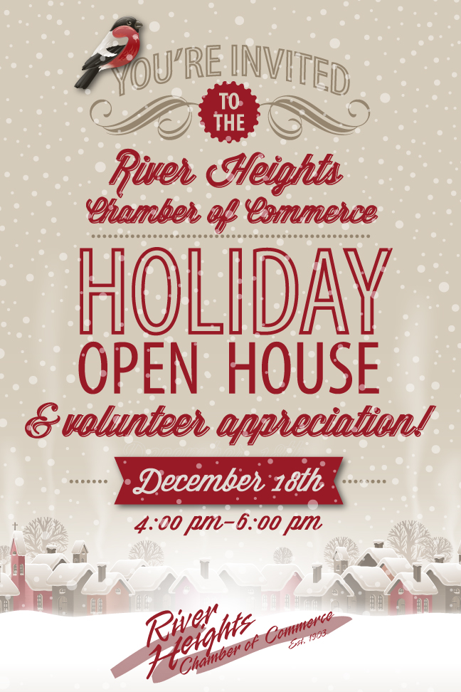 2014 River Heights Chamber of Commerce Holiday Open House Invitation Cover