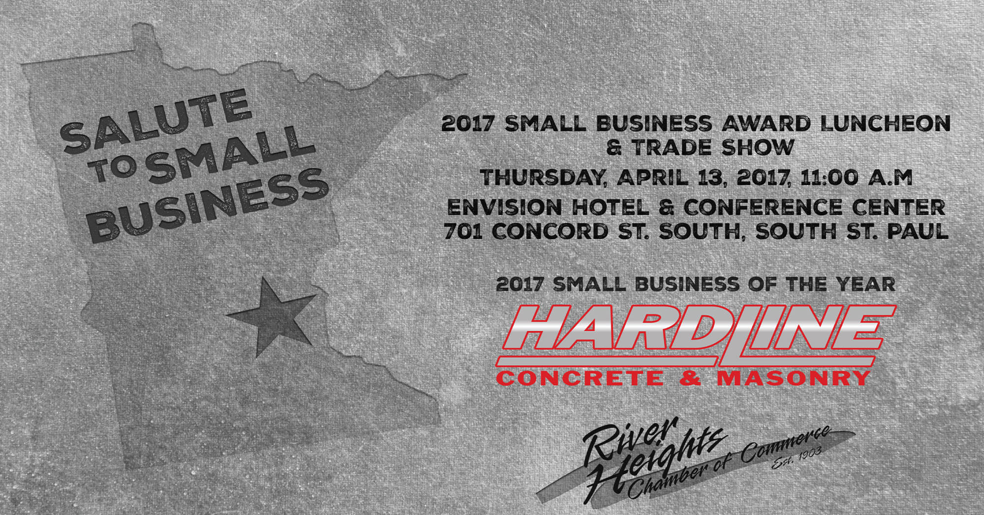 hardline concrete & masonry honored with 2017 small business of