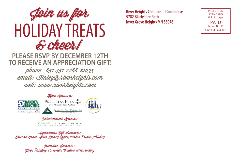 2014 River Heights Chamber of Commerce Holiday Open House RSVP